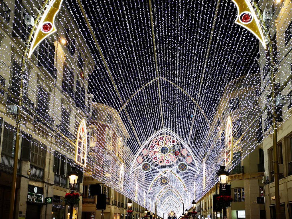 Christmas lights, Calle Larios, Malaga