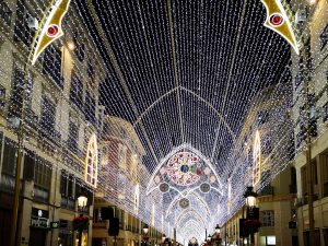 Christmas lights, Calle Larios, Malaga