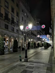 Christmas lights in Granada, Calle Angel Ganivert