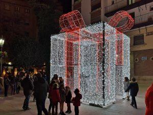Christmas present illumination - Plaza Dean Mazas, Jaen