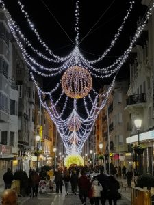 Christmas lights - Calle Bernabe Soriano, Jaen