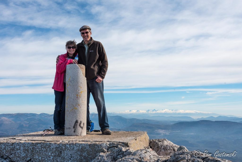 The summit. At the very top of Ahíllo 1452m