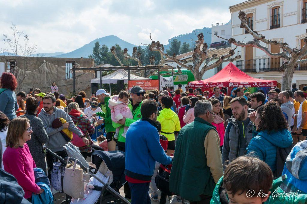 Las Casillas village square after the Cross Pantano del Viboras 2018