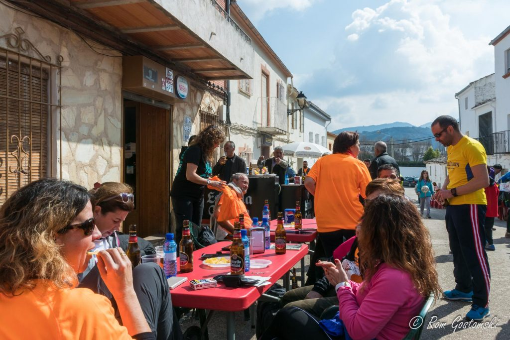 Outside Bar Moya in Las Casillas. There was a street party atmosphere with BBQ and paella.