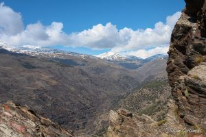 The view from Peñabón, looking towards the higher mountains of the Sierra Nevada