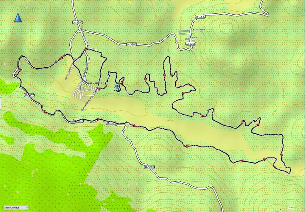 The route of the Cross Pantano del Viboras, 2018 (recorded by my Garmin Oregon).