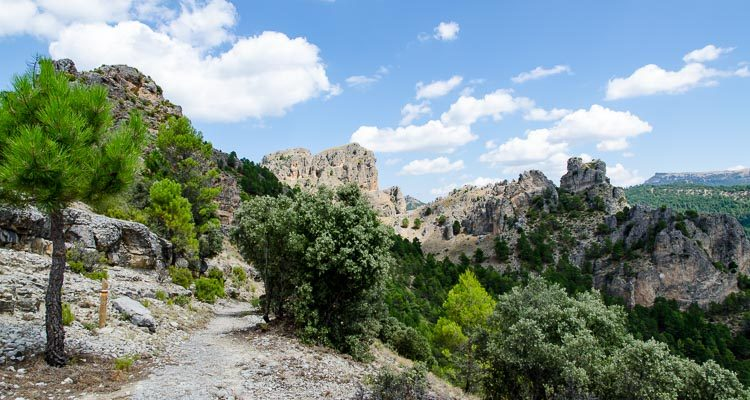 View from one of the walks from Cazorla