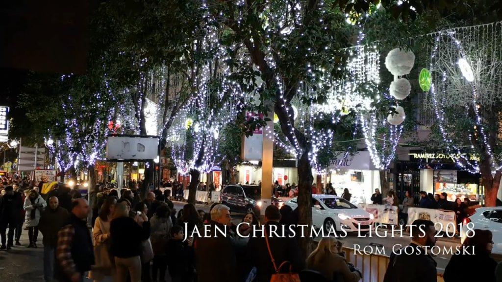 Christmas lights in Jaen