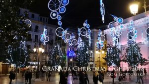 Christmas lights in Plaza del Carmen, Granada