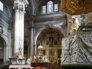 Jaen Cathedral - pulpit and main altar