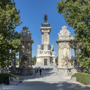 El Retiro, Madrid, the King Alfonso XII monument by the north gate