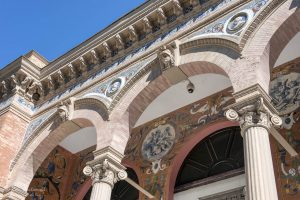 Beautiful architecture of the Velázquez Palace