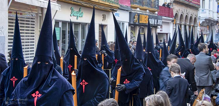 Nazarenos in Sevilla during Semana Santa