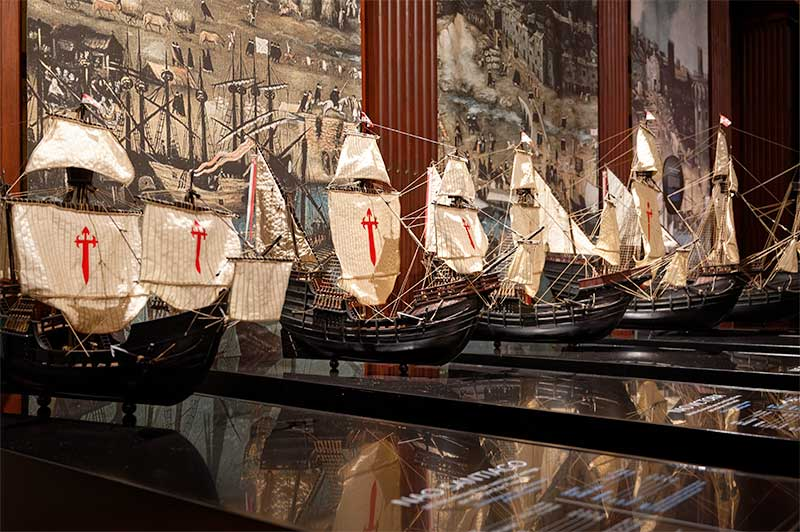 Models of the boats used for the epic voyage
