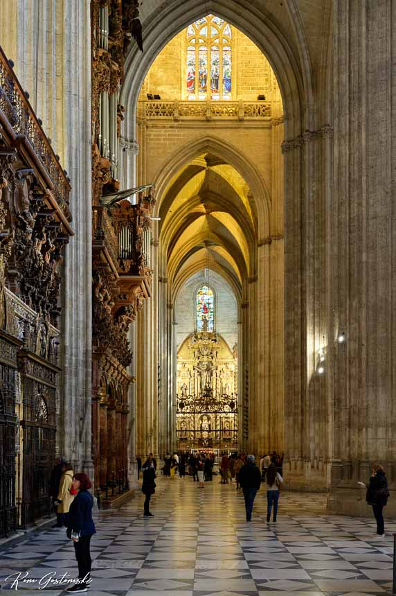 Inside Sevilla Cathedral