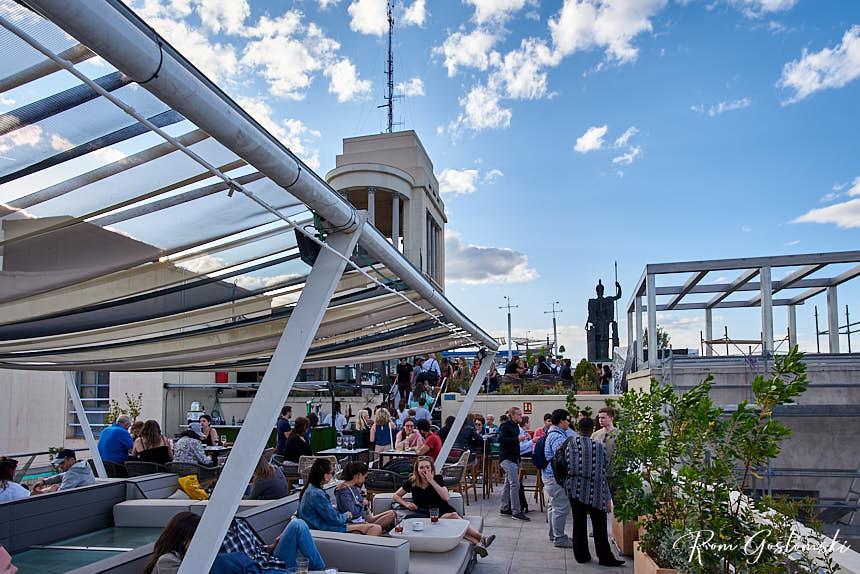 Círculo de Bellas Artes splip-level rooftop terrace bar