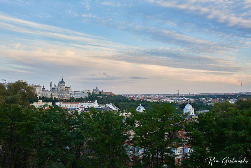 View of Madrid from Templo de Debod