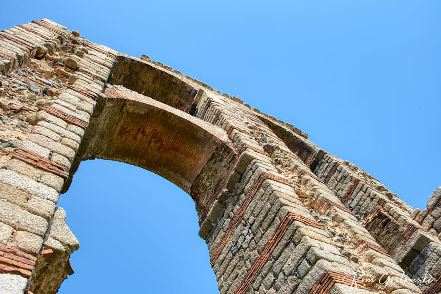 Arches were used to brace and strengthen the structure.