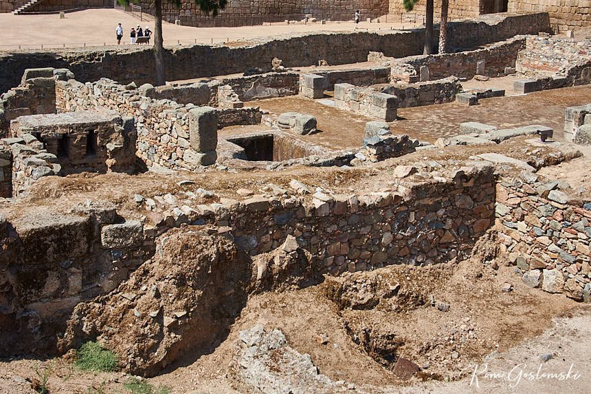 Well preserved ruins inside the Alcazaba