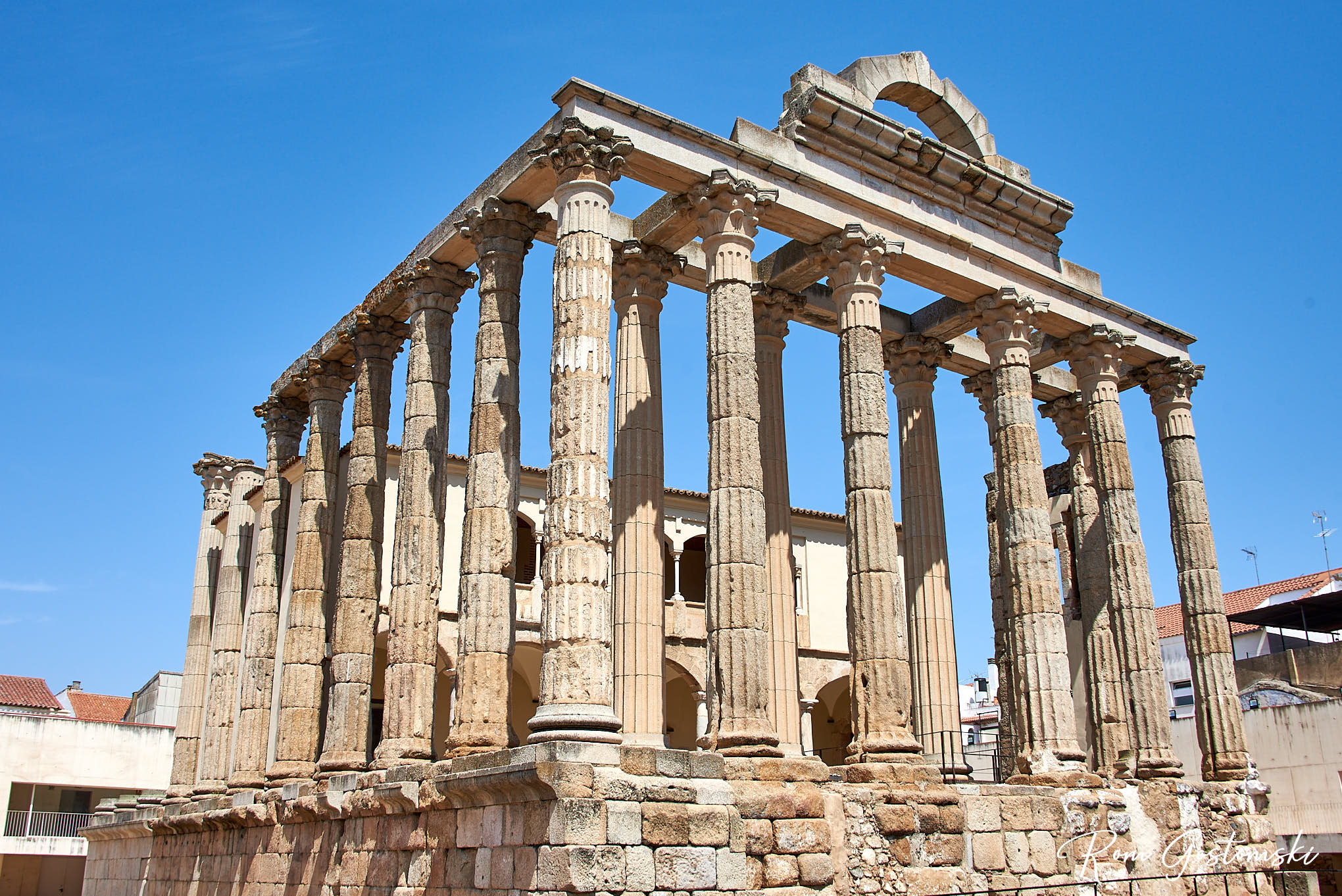 The Temple if Diana heritage site is right in the centre of the town