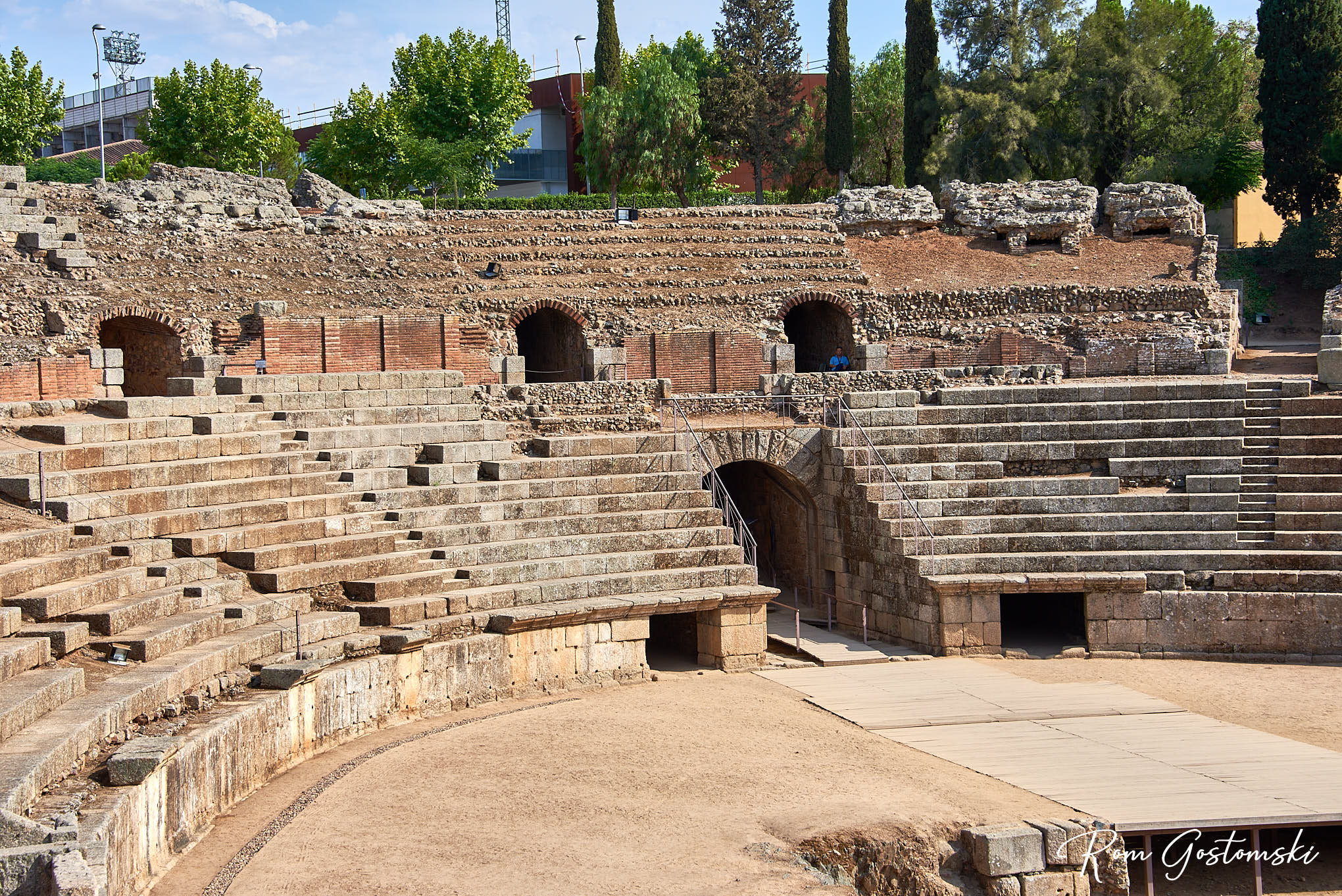 The Roman Amphitheatre - one of the impessive archaeological heritage sites of Mérida
