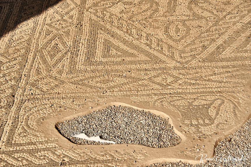 Mosaic floor in the Tablinum of Basilica House