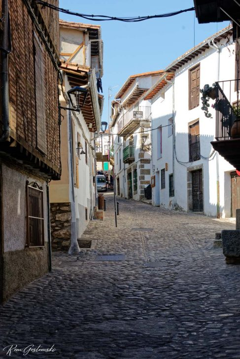Another cobbled street, but a little wider and the houses are taller