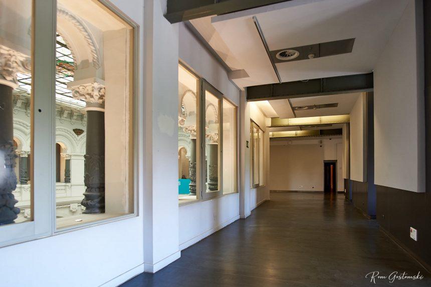 Corridor around the full height central atrium.