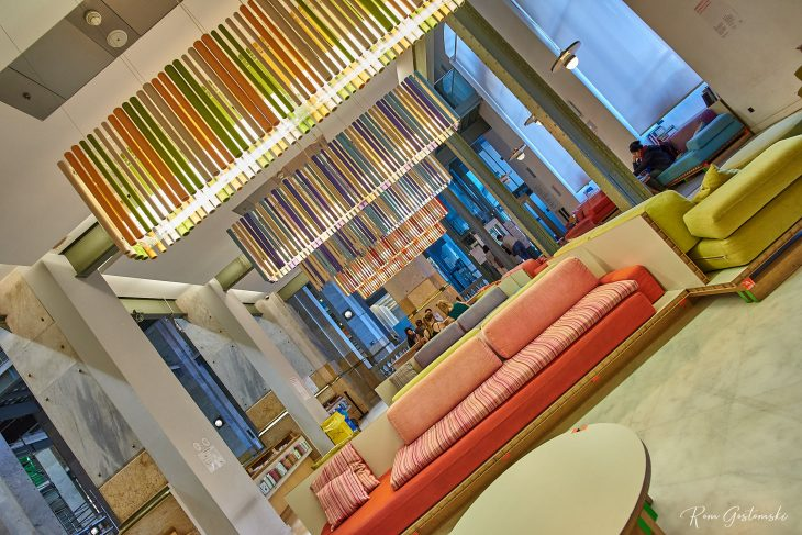 A quirky, colourful room next to the main hall. This is used for reading, study or relaxing. I love the pallet style furniture.